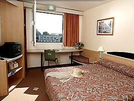 A typical room in an Ibis hotel