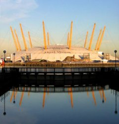Nearest airport to o2 arena london