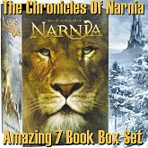 CS Lewis's Chronicles Of Narnia 7 book box set with movie artwork