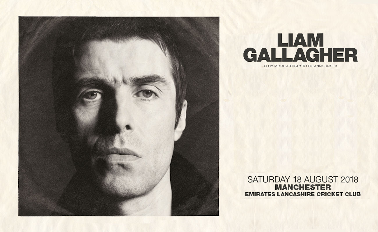 Liam Gallagher in Manchester