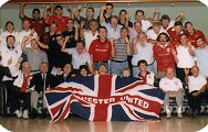 New South Wales Australia Manchester United supporters club pose for the camera