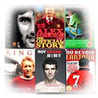 Manchester United players and managers on dvd and videos