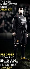 Buy the new United home kit 2007-08
