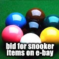 Check out E-bay for Snooker items